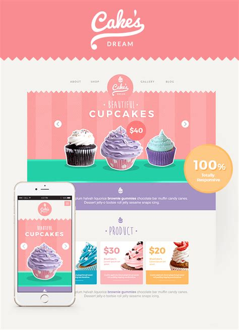 Template For Cake by Cake Responsive Cake Shop Template Site Templates