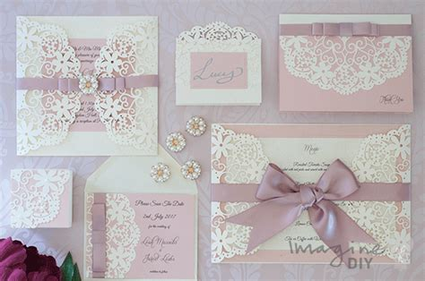 how to make arabesque dusky pink wedding stationery