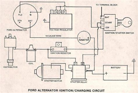 ford alternator  external regulator  hamb