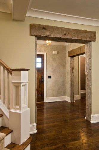 barn beam  header  house  white molding rustic