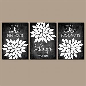 Live laugh love wall art chalkboard quote kitchen wall art for Kitchen colors with white cabinets with canvas wall art quotes diy