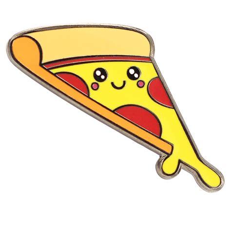 gooey pizza kawaii food enamel pin sic