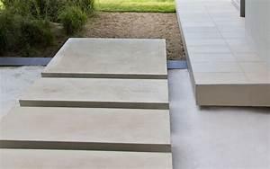Flooring: Modern Large Concrete Pavers Walkway Ideas