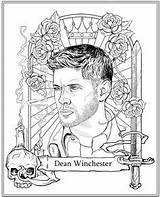 Coloring Supernatural Winchester Dean Colorir Desenhos Adult Printable Sheets Jensen Disney Natural Sobrenatural Colouring Sample Bits Pieces January Resultado Imagem sketch template