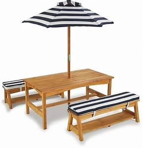 Table Enfant Exterieur : ensemble table et bancs d 39 ext rieur avec parasol enfant ~ Melissatoandfro.com Idées de Décoration