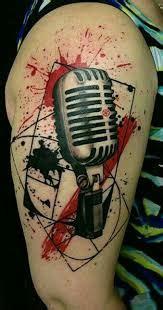 trash polka tattoo  represent symbolism