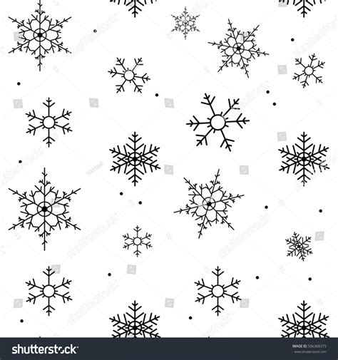 Snowflake Background Black And White by Anchor Vintage Ribenvector Soidergi