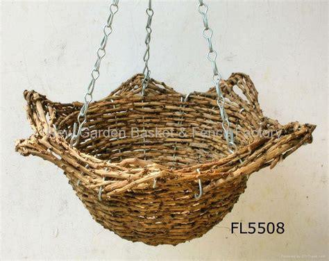 star cone hanging basket rattan basket hanging flower basket hanging planter china manufacturer