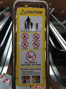 Safety Signage On Escalator