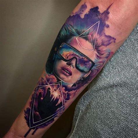 watercolor portrait tattoo girl  tattoo ideas gallery
