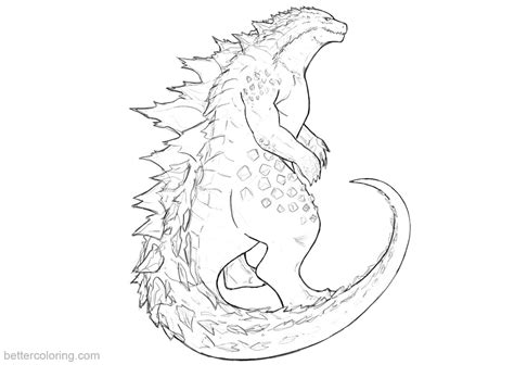 godzilla coloring pages fanart  printable coloring pages