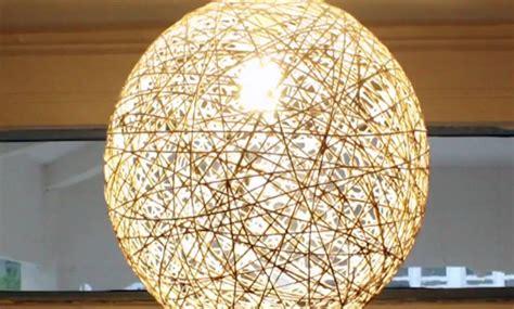 string pendant l diy diy room decor how to make pendant string lights yarn