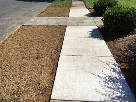 flagstone installation concrete concrete sidewalk repair lancaster pa c e pontz sons landscape contractors