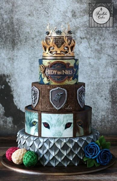 game  thrones inspired birthday  wedding cake ideas