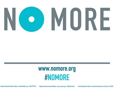 Download this sign and write what you say #NOMORE to