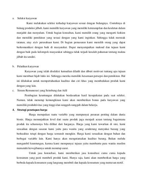 contoh business plan jilbab shoe susu