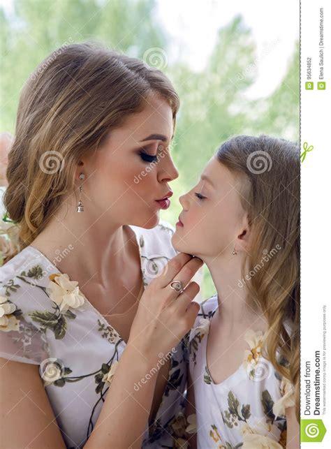 Step Mom Daughter Kissing