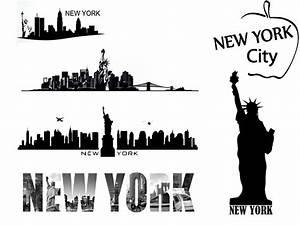 New York Schriftzug : wandtattoo new york skyline ~ Frokenaadalensverden.com Haus und Dekorationen