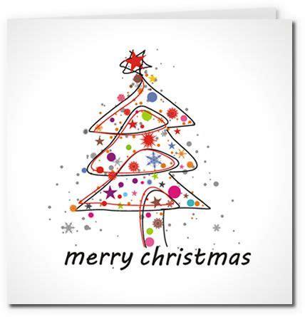 Free Printable Christmas Cards  Colorful Modern Christmas Tree Design  Free Printable