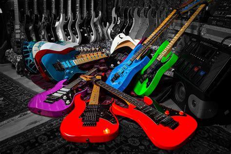 wallpaper guitars colorful hd