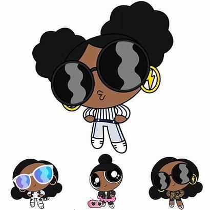 Powerpuff Power Cartoon Puff Trio Profile Modern