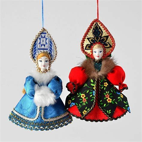 russian dolls ornaments russian princess ornament set