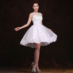 aliexpresscom buy new 2016 white short wedding dresses With white short wedding dress