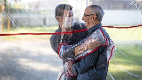 brazilian care home create plastic hug tunnel