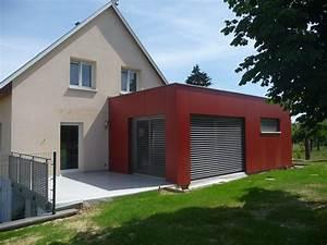 maison avec bardage gris ventana blog With maison demi niveau plan 16 esprit bois maison ossature bois demi ronde constructeur