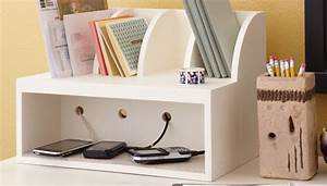 Charging Post and Mail Organizer