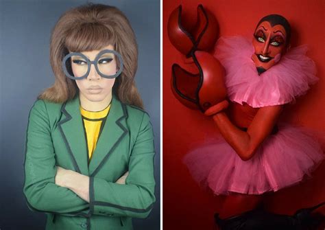 Drag Queen Transforms Herself Into 90s Cartoon Characters