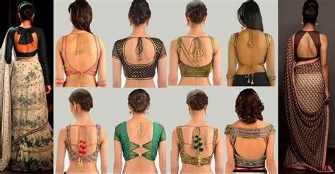 latest blouse  neck designs  pics images saree