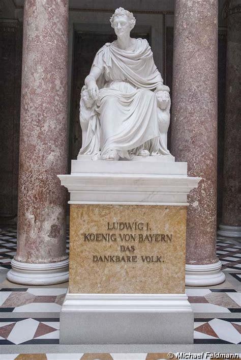 statue von koenig ludwig   der gedenkstaette walhalla