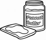 Butter Peanut Template sketch template