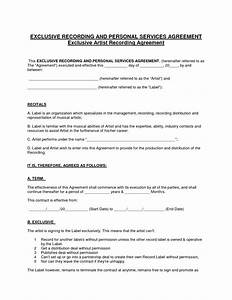 13 best images of personal services agreement service for Record label contracts templates
