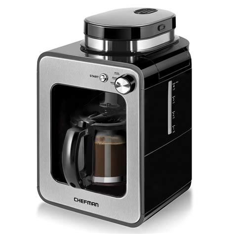 If you're an ardent coffee fan, the best coffee maker with grinder is an essential appliance that should take pride of place in your kitchen! Chefman Grind and Brew Coffee Maker, Grinder - Chefman.com