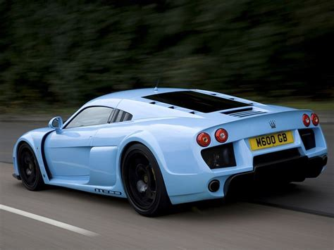 Light Blue Sports Cars by Light Blue Noble M600 Rear Gasoline And Sparks Car