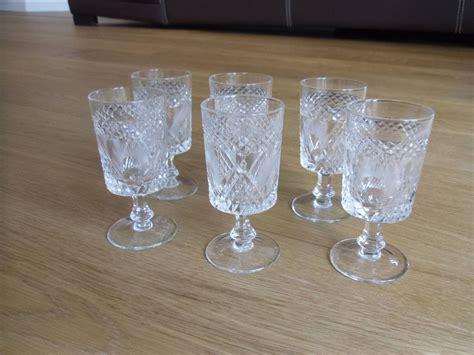 bicchieri amaro 6 glasses of critallo decorated glasses bitter glasses
