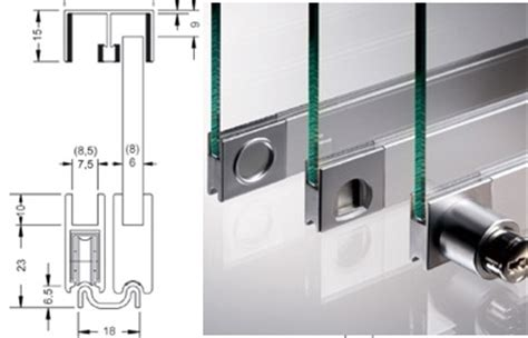 glissiere pour vitrine verre ensemble vitris supra 5m pour portes coulissantes de vitrine verre 6mm ref ensemble vitris