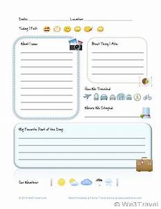 free kid travel journal printable travel journal for With trip diary template