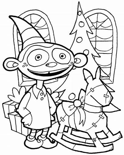 Coloring Pages Elf Fun Funny Elves Printable