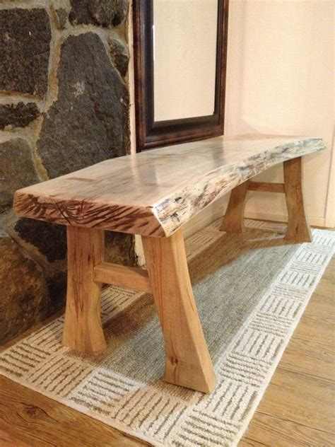 natural edge maple bench  edge furniture rustic log furniture rustic bench