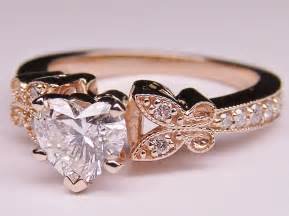 gold shaped engagement ring engagement ring shape butterfly vintage engagement ring setting matching