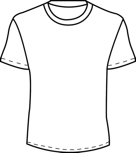 Coloring T Shirt by Blank T Shirt Template For Colouring Clipart Best