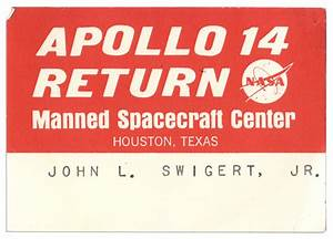 Lot Detail - Jack Swigert's Personally Owned Pass From The ...