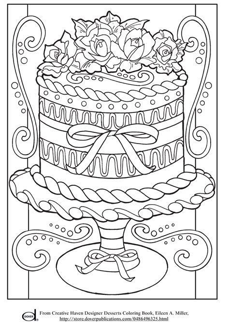 printable adult coloring pages wedding cake art
