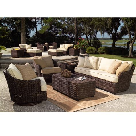 woodard patio furniture woodard sonoma 5 wicker patio set wc sonoma set5