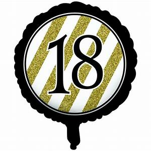 "Black & Gold 18th Birthday 18"" Foil Balloon • Party Forever"