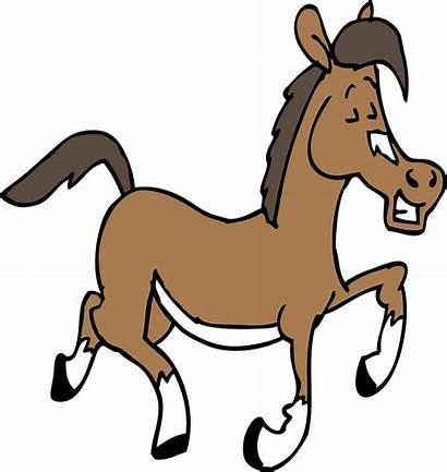 Horse Clipart Cartoon Happy Lazy Mascot Story