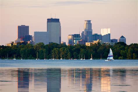 Lake Calhoun and Minneapolis skyline | The Minneapolis ...